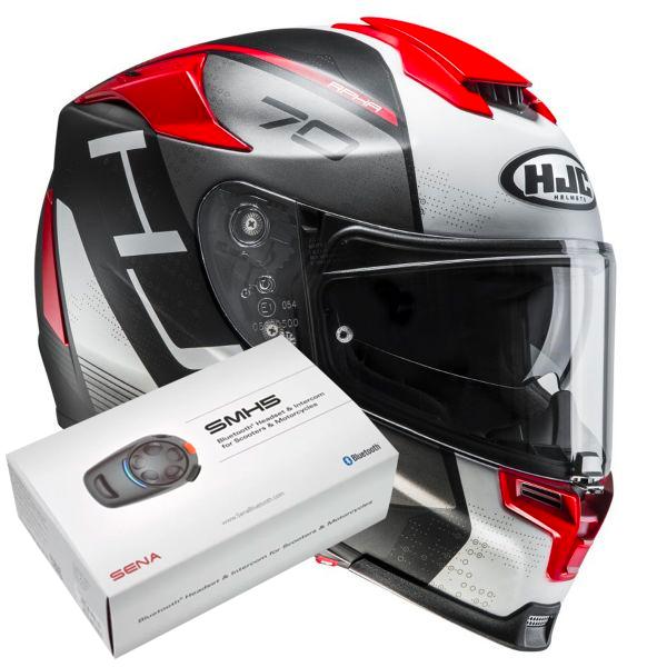 HJC RPHA 70 Vias MC1SF + Kit Bluetooth Sena SMH5