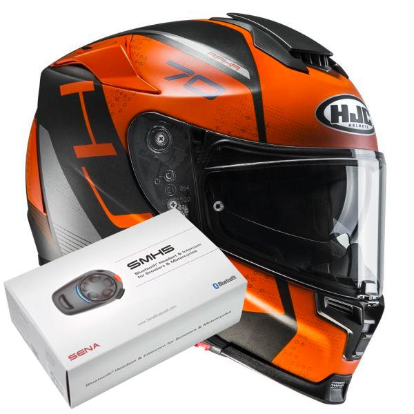 HJC RPHA 70 Vias MC7SF + Kit Bluetooth Sena SMH5