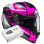 Casque Integral HJC RPHA 70 Vias MC8SF + Kit Bluetooth Sena SMH5
