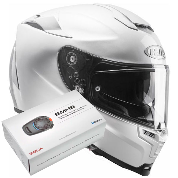 Casque Integral HJC RPHA 70 White + Kit Bluetooth Sena SMH5