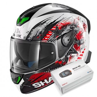 Casque Integral Shark Skwal 2 Switch Rider 1 WKR + Kit Bluetooth Sena SMH5