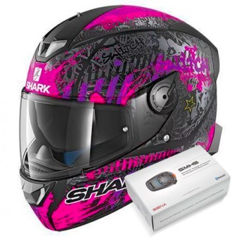 Casque Integral Shark Skwal 2 Replica Switch Riders 2 Mat KVV + Kit Bluetooth Sena SMH5