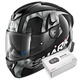 Casque Integral Shark Skwal 2 Trion KUA + Kit Bluetooth Sena SMH5