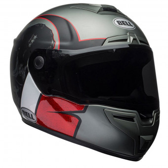 Casque Integral Bell Srt Hart Luck Charcoal White Red
