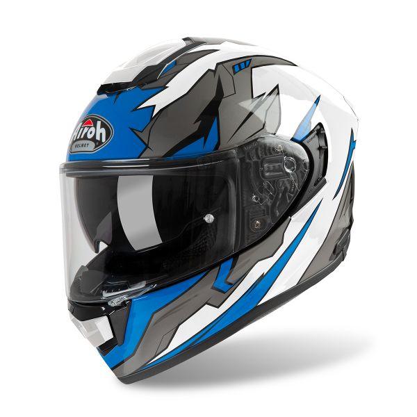 Casque Integral Airoh ST 501 Bionic Chrome Bleu