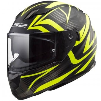 Casque Integral LS2 Stream Evo Jink Matt Black H-V Yellow FF320