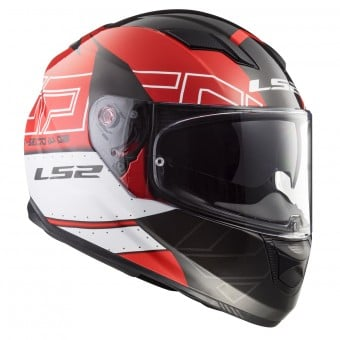 Casque Integral LS2 Stream Evo Kub Black Red FF320