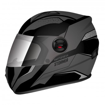 Casque Integral Stormer Swift Hexa Gris Noir Mat