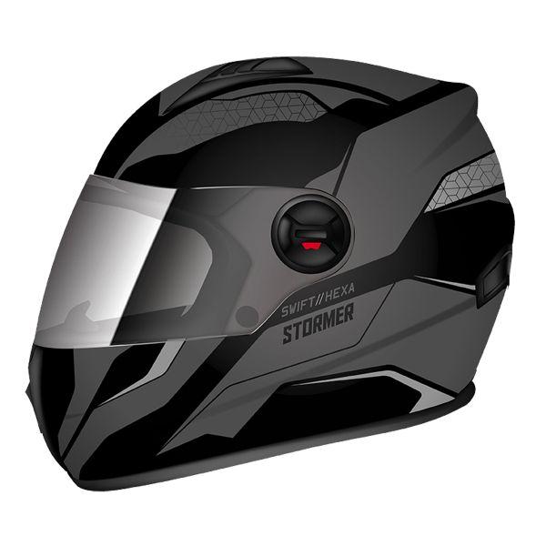 Casque Integral Stormer Swift Hexa Gris Noir Mat