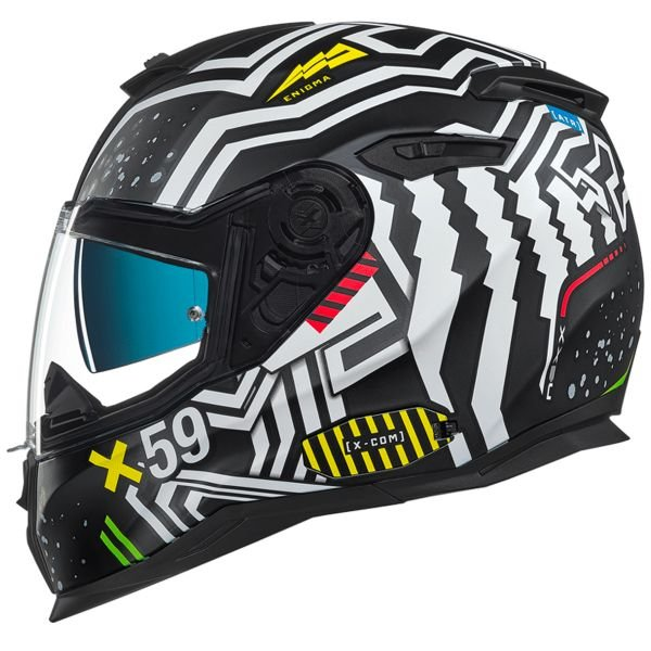 Casque Integral Nexx SX.100 Enigma Black White Mat