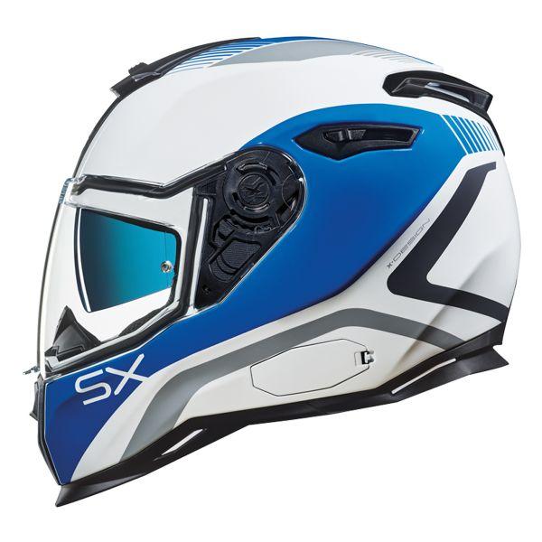 Casque Integral Nexx SX.100 Popup Bleu