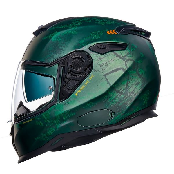 Casque Integral Nexx SX.100 Toxic Green Matt