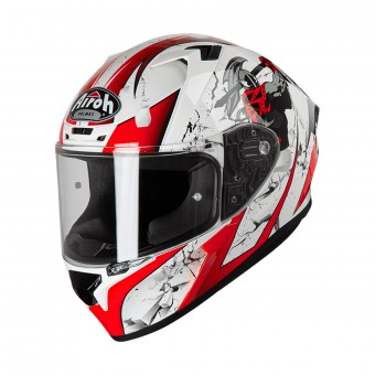 Casque Integral Airoh Valor Jackpot Rouge Blanc