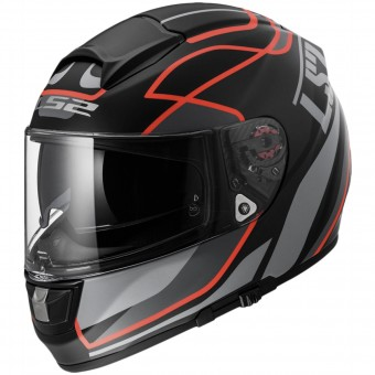 Casque Integral LS2 Vector Vantage Matt Black Red FF397