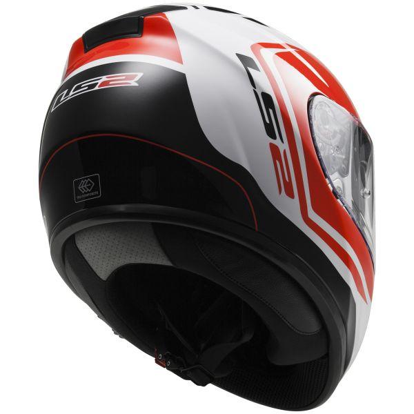 LS2 Vector Wake White Black Red FF397
