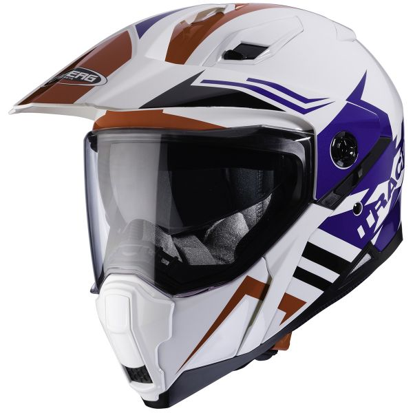 Casque Integral Caberg Xtrace Lux White Red Blue