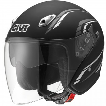 Casque Jet Givi 20.6 Fiber-J2 Plus Matt Black