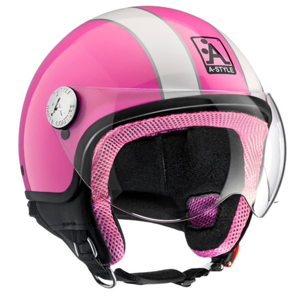 Casque Jet Astyle A-Style Pink