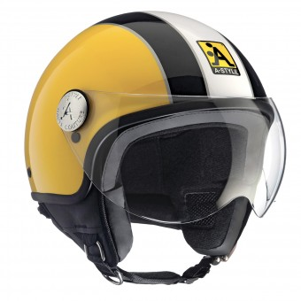Casque Jet Astyle A-Style Yellow Black