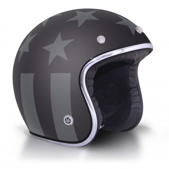 Casque Jet GPA Carbon Legend America Noir Mat
