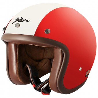 Casque Jet Airborn Steve AB 1 Red Cream