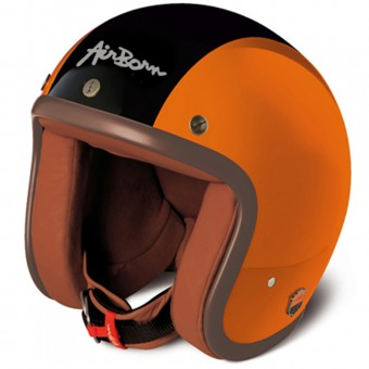 Casque Jet Airborn Steve AB 3 Orange Black