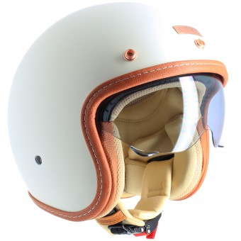 Casque Jet UBIKE Challenge Cream Matt