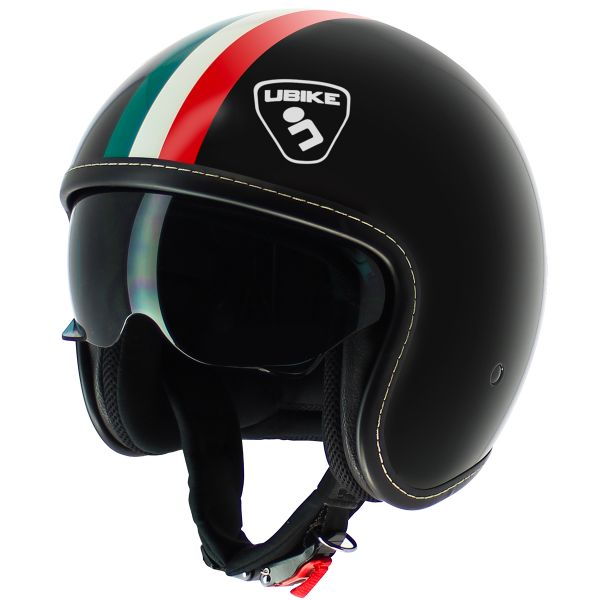 Casque Jet UBIKE Challenge Glossy Black Italy