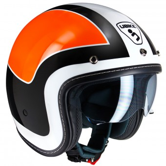 Casque Jet UBIKE Challenge Racing Orange