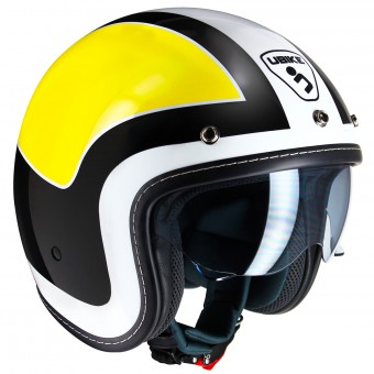 Casque Jet UBIKE Challenge Racing Yellow