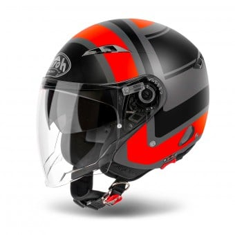 Casque Jet Airoh City One Wrap Orange Matt