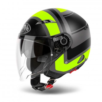 Casque Jet Airoh City One Wrap Yellow Matt