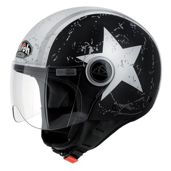 Casque Jet Airoh Compact Shield Noir Mat