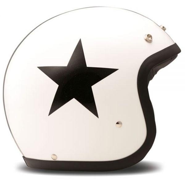 Casque Jet Dmd Vintage Star Blanc