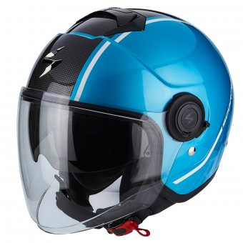 Casque Jet Scorpion Exo City Avenue Sky Blue Black