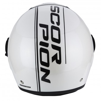 Casque Jet Scorpion Exo City Edge Pearl White Black