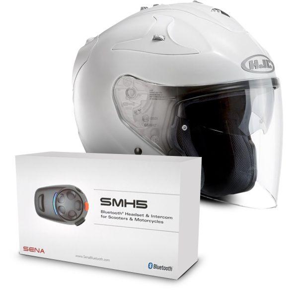 Fg Jet Blanc Kit Bluetooth Sena Smh5