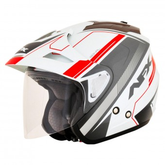 Casque Jet AFX FX-50 Signal White Gray Orange