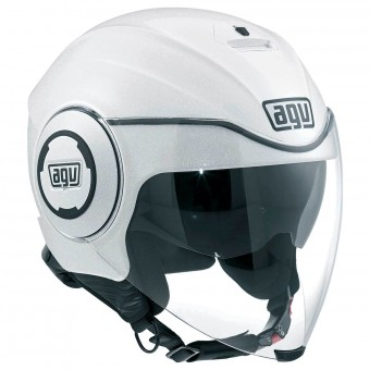 Casque Jet AGV Fluid Soho Black White