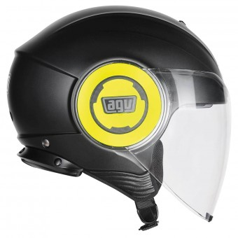 Casque Jet AGV Fluid Soho Yellow Fluo Black