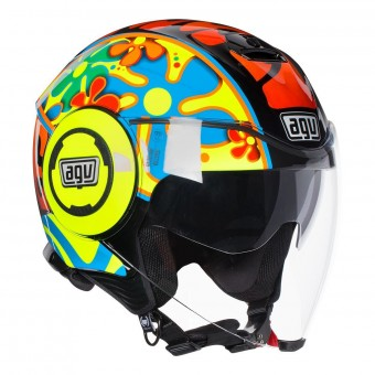 Casque Jet AGV Fluid Top Valencia 2003