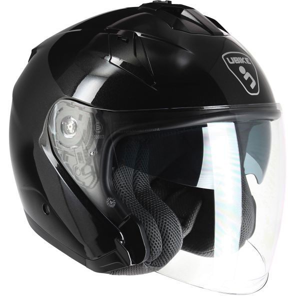 Casque Jet UBIKE Force Glossy Black