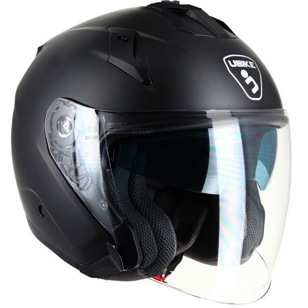 Casque Jet UBIKE Force Matt Black