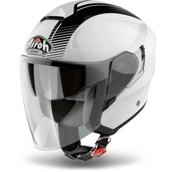 Casque Jet Airoh Hunter Simple White