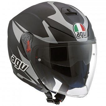 Casque Jet AGV K-5 Jet Orbiter Matt Black Grey