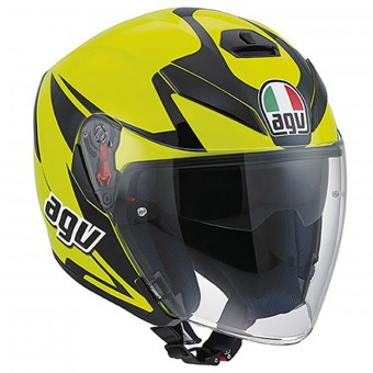 Casque Jet AGV K-5 Jet Orbiter Yellow Black