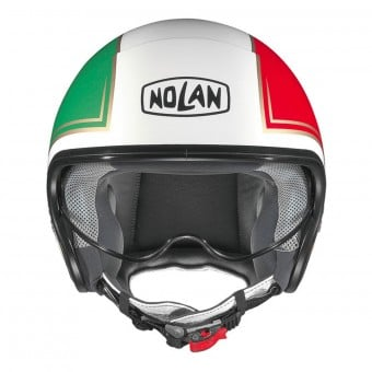 Casque Jet Nolan N21 Tricolore Metal White 31