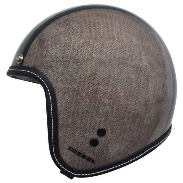 Casque Jet Diesel Old Jack Herringbone Grey