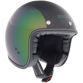 Casque Jet Diesel Old-Jack Pearl Green