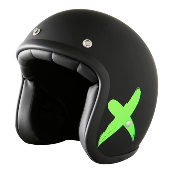 Casque Jet Stormer Pearl X-Rider Black Green Mat